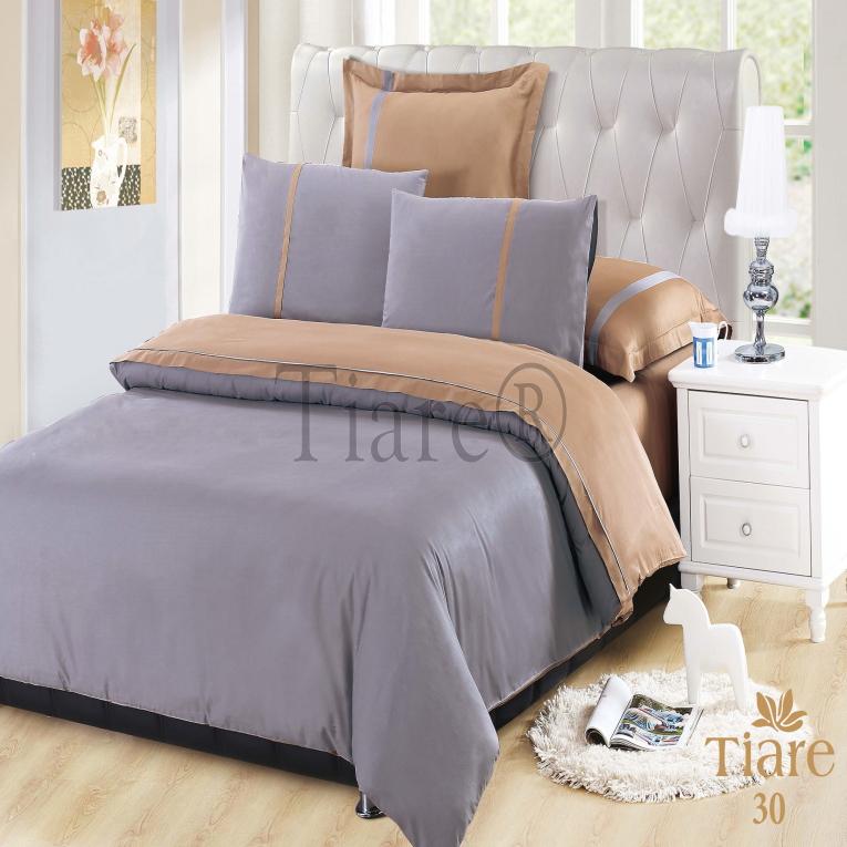 Двухцветное постельное белье Вилюта сатин де люкс Тиаре 30 лиловое