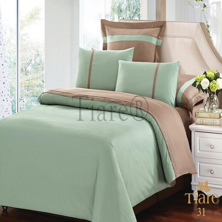 Комплект элитного постельного белья из сатина люкс  Вилюта Tiare 31 двух цветов
