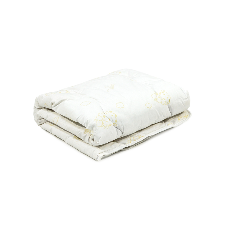 Шерстяное детское одеяло на овчине стеганое Вилюта Premium зима