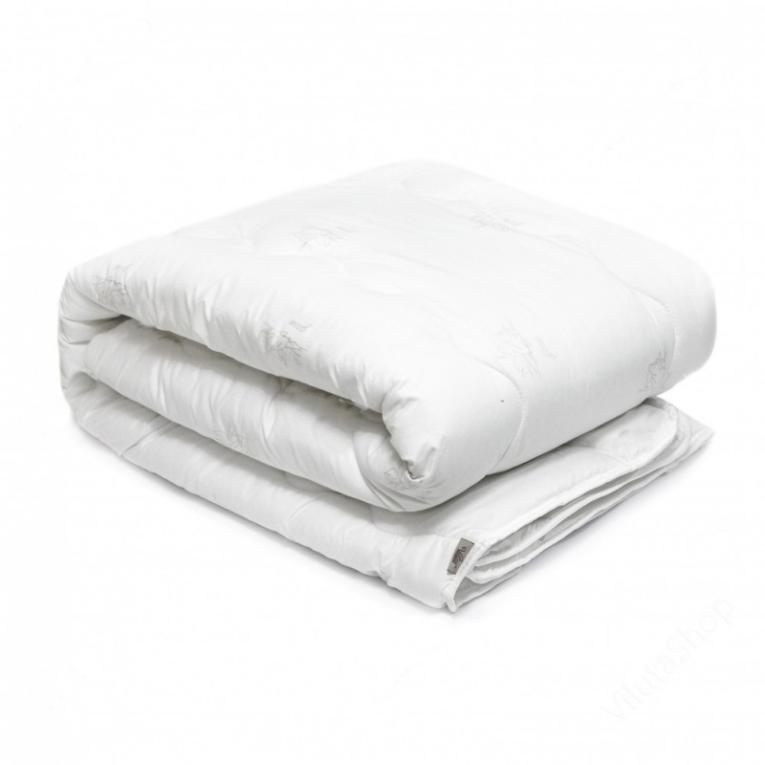 Зимнее двуспальное пуховое одеяло лебяжий пух Вилюта Soft стеганое