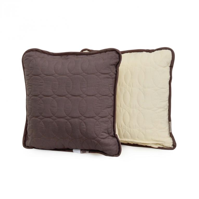 Подушка декоративная 40х40 Вилюта Дуэт шоколадно - ванильная