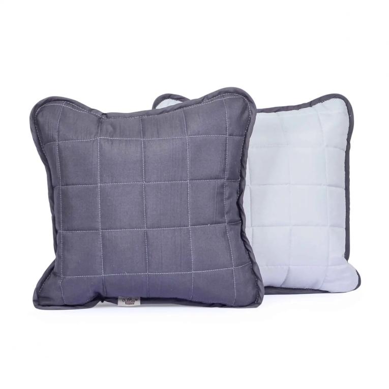 Декоративная подушка на кровать Вилюта Дуэт 40х40 графит
