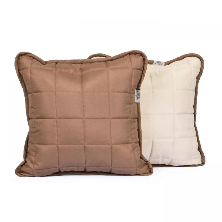 Декоративная подушка на кровать Вилюта Дуэт 40х40 капучино