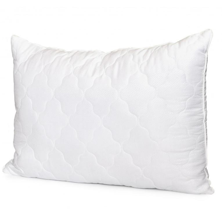 Антиаллергенная силиконовая подушка для сна 50 на 70 Вилюта Relax на молнии прямоугольная