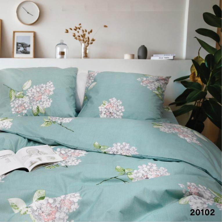 Двуспальное постельное белье 20102 Вилюта ранфорс бирюзовый