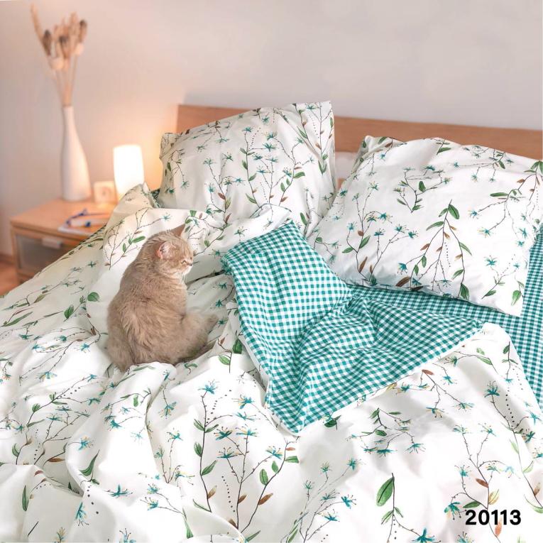 Двуспальное постельное белье 20113 Вилюта ранфорс