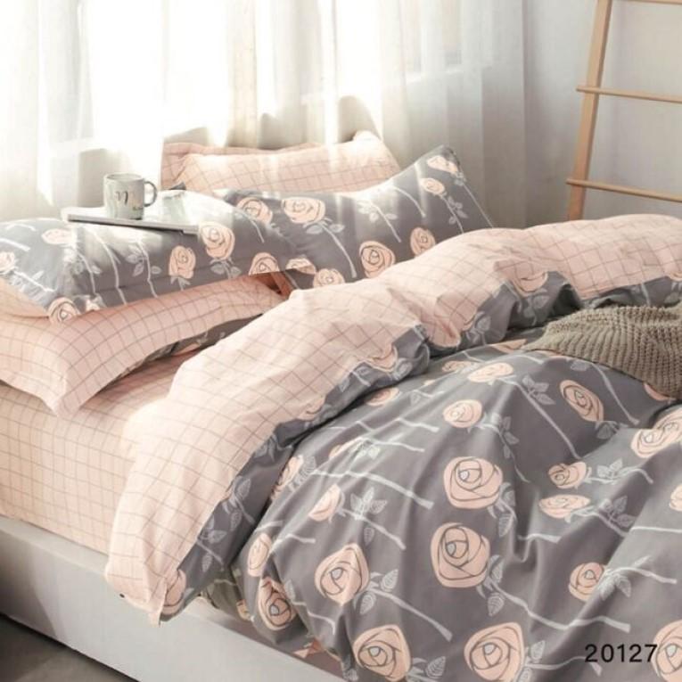 Семейный комплект Вилюта 20127 серого цвета с розами