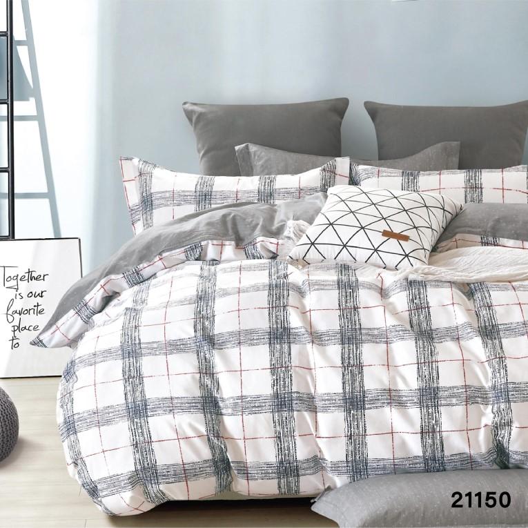 Семейный комплект постельного Вилюта 21150 в клеточку