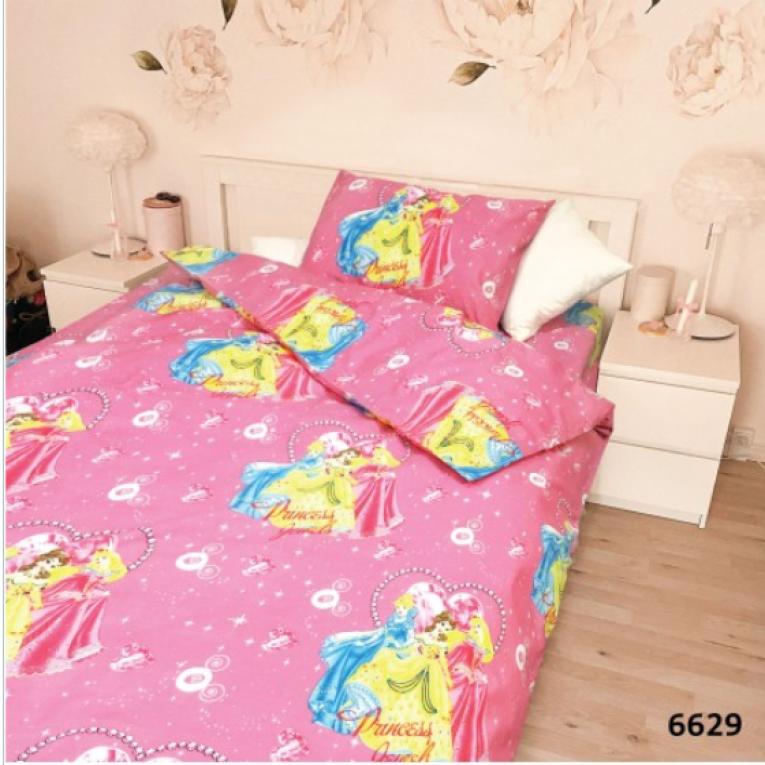 Детская постель с принцессами 6629