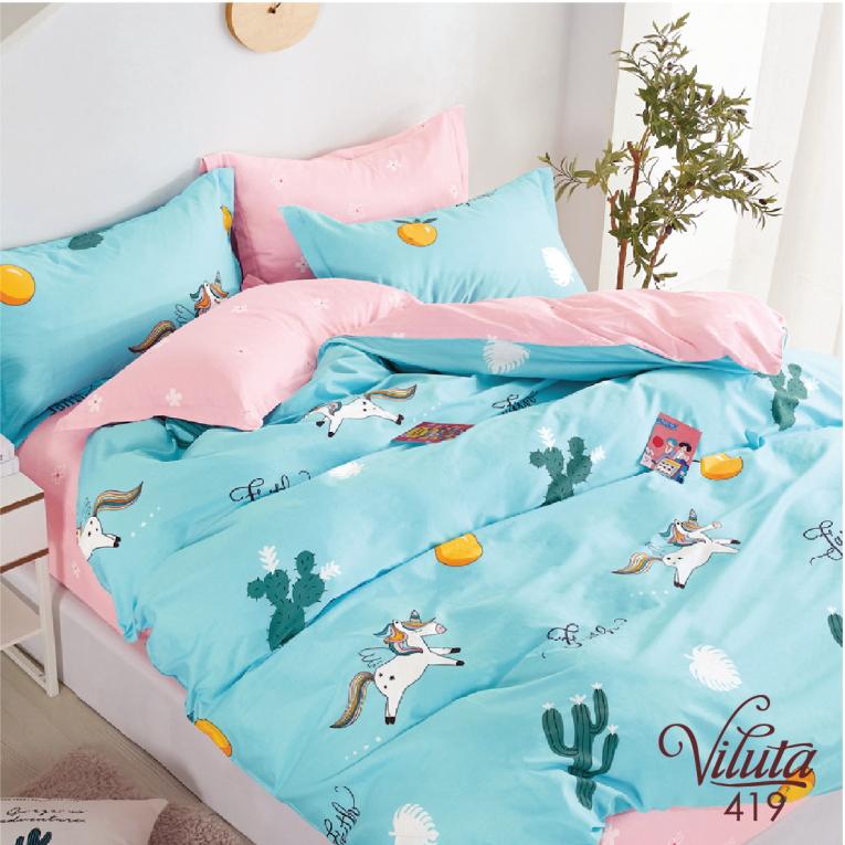 Дитяча постіль в ліжечко із сатину Viluta 419