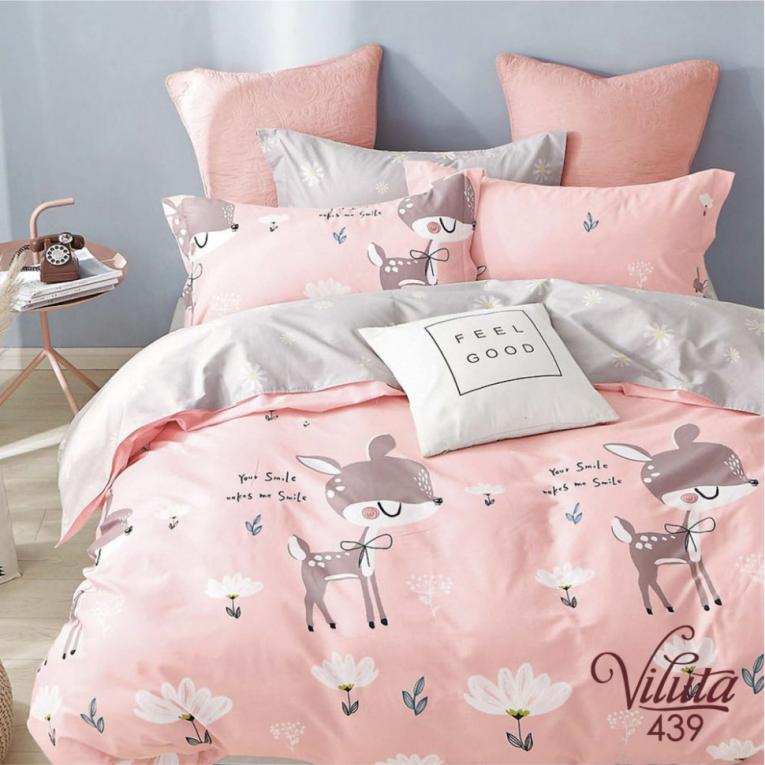 Комплект постельного белья Вилюта розовый 439
