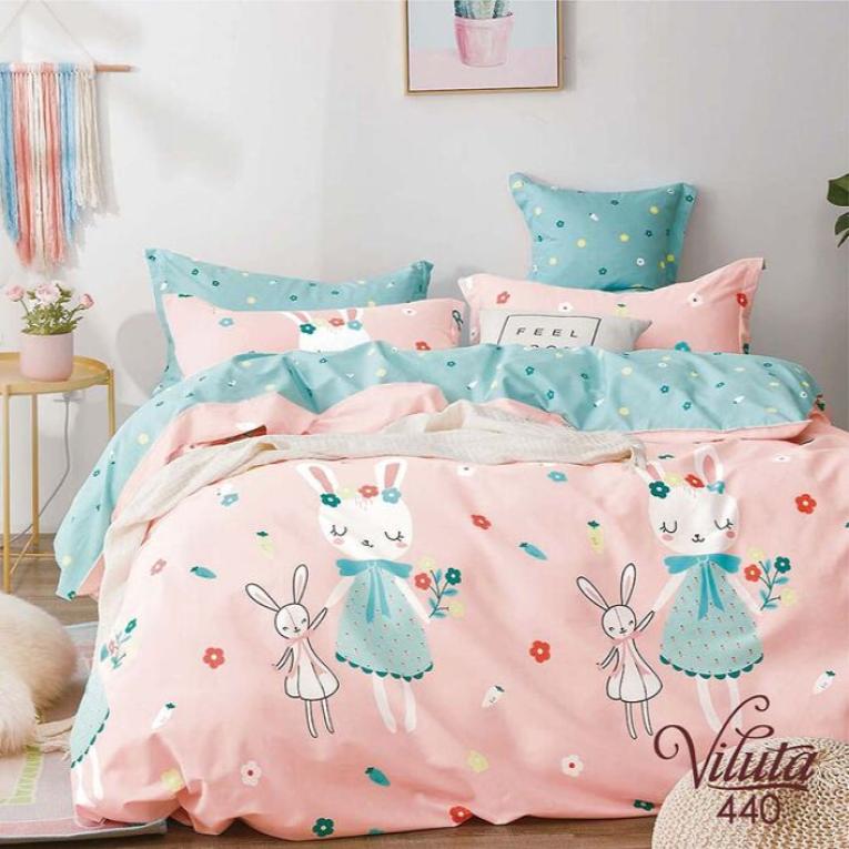 Подростковый комплект 440 розовое постельное белье
