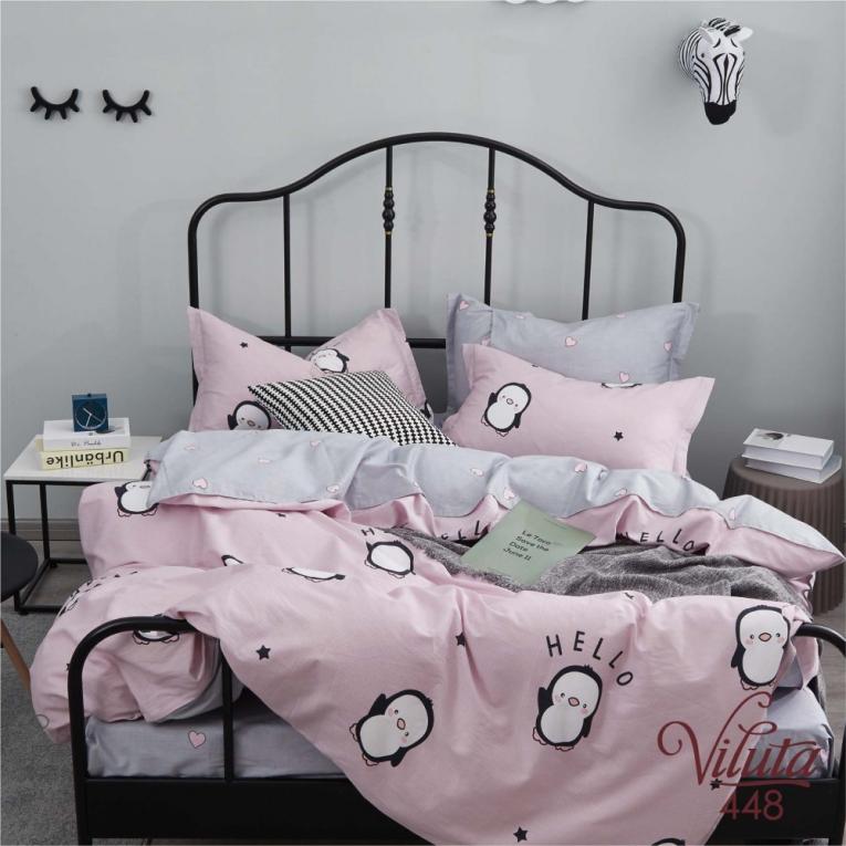 Детское подростковое постельное белье с пингвинами 448