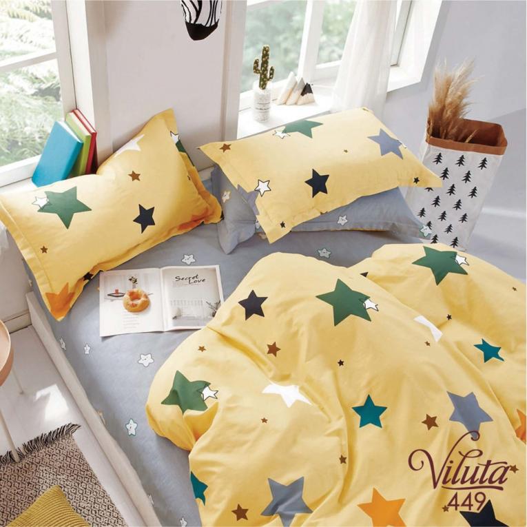 Детское подростковое постельное белье 449 Viluta со звездами