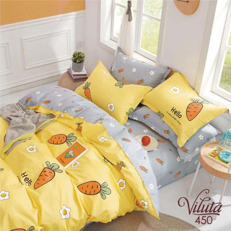 Детское подростковое постельное белье 450 ТМ Вилюта желтое