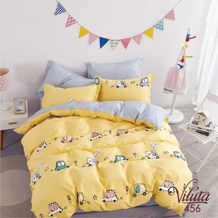 Сатиновое детское постельное белье желтое ТМ Вилюта 456