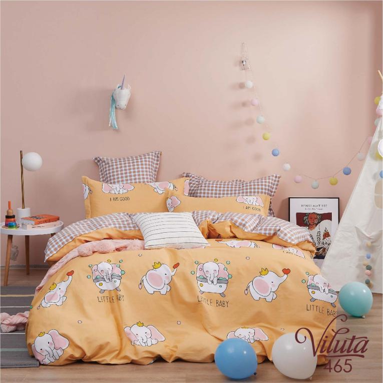 Комплект постельного Вилюта сатин 465 оранжевое слоники