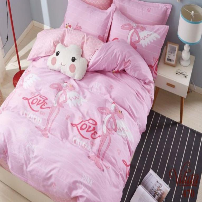 Комплект розового постельного белья Вилюта 470