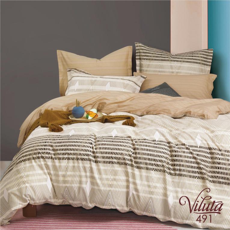 Комплект двуспального постельного белья 491 Вилюта сатин твил