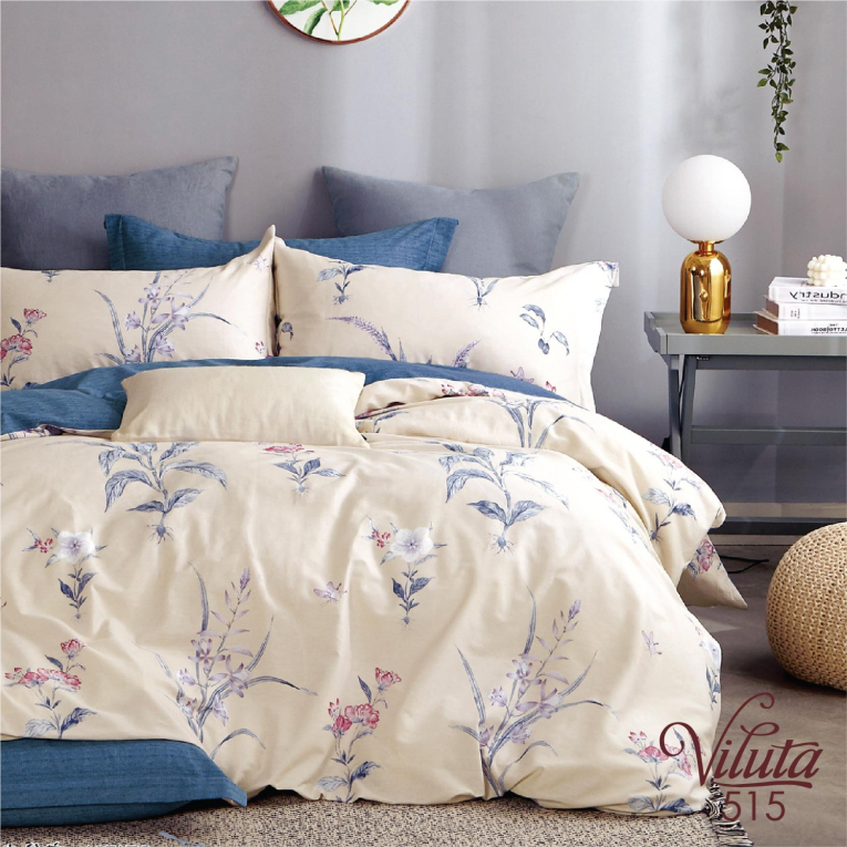 Полуторное постельное белье из сатина 515 Viluta ТМ
