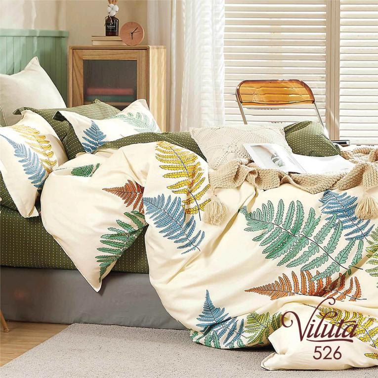 Полуторное постельное белье из сатина 526 Viluta ТМ