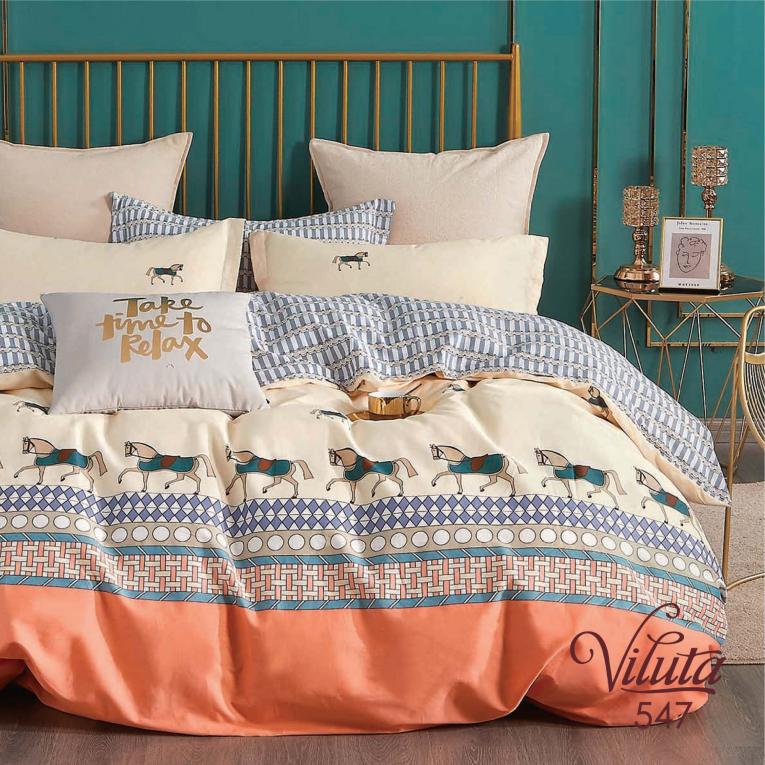 Полуторное постельное белье Вилюта 547 сатин твил
