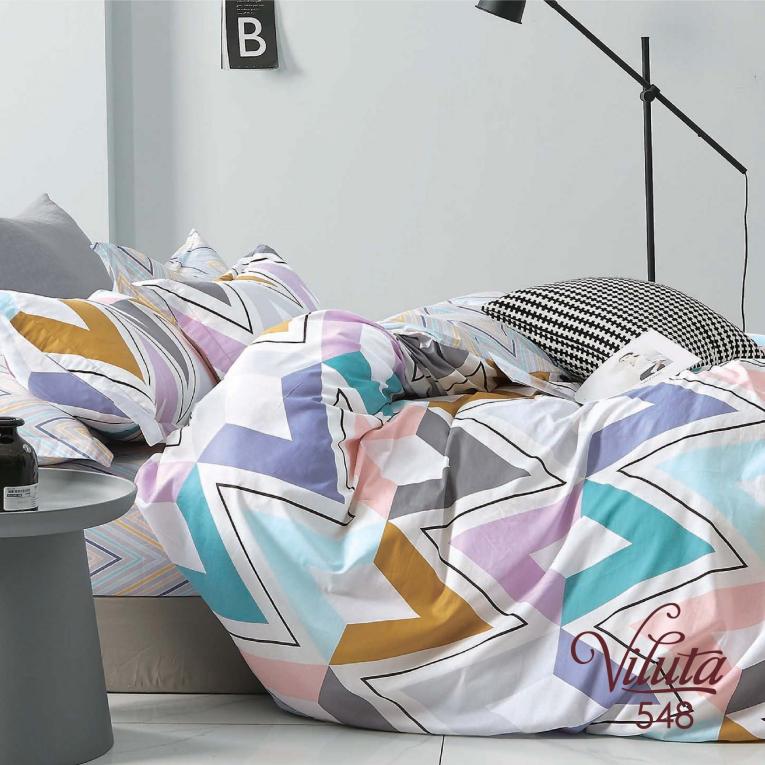 Двуспальный комплект постельного белья сатин Вилюта 548
