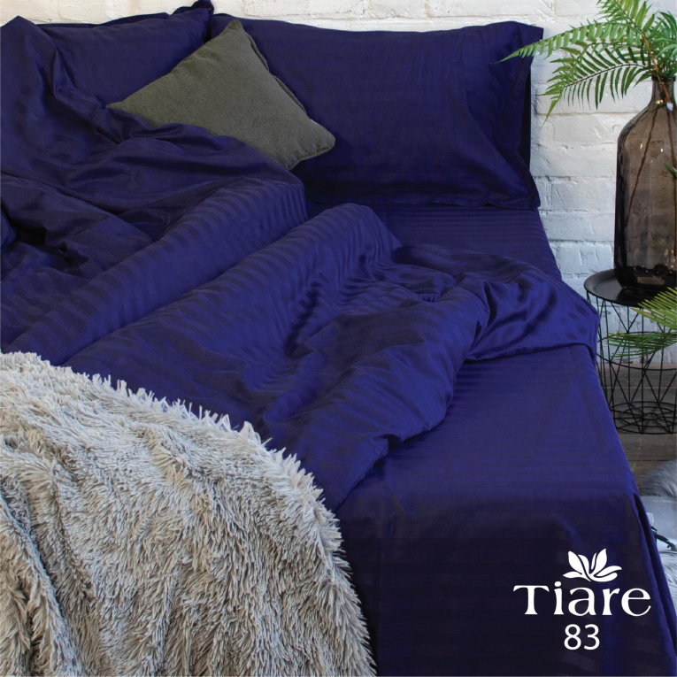 Синее постельное белье Вилюта евро сатин Тиаре 83