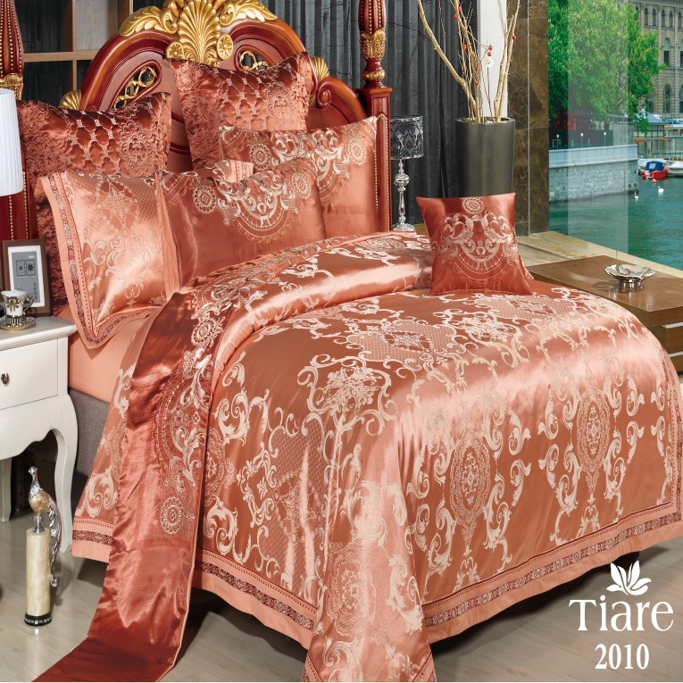 Сатин жаккард семейное Вилюта Тиаре 2010 элитное постельное оранжевое