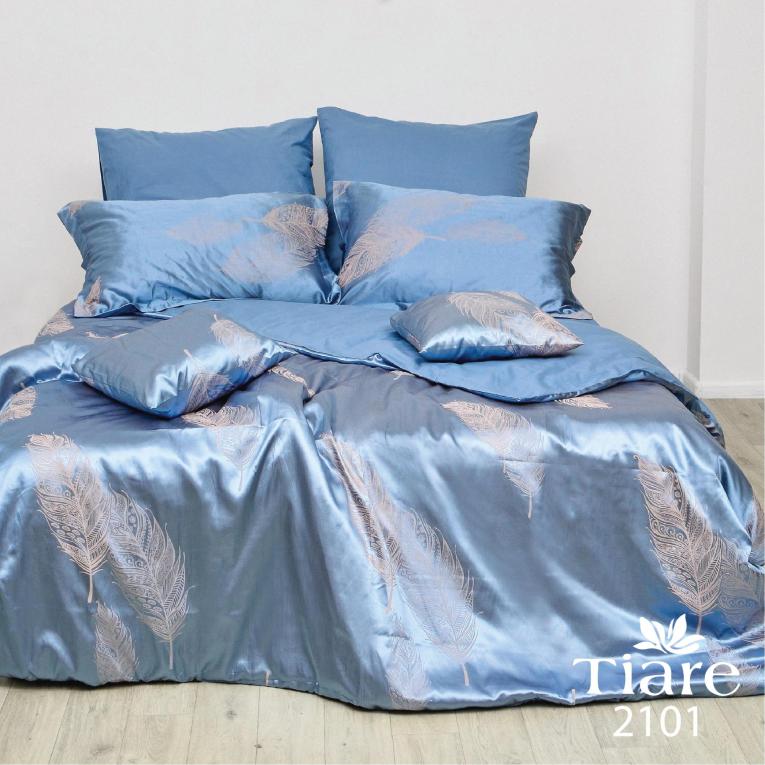 Сатин жаккард семейное Вилюта Тиаре 2101 бирюзовое постельное белье