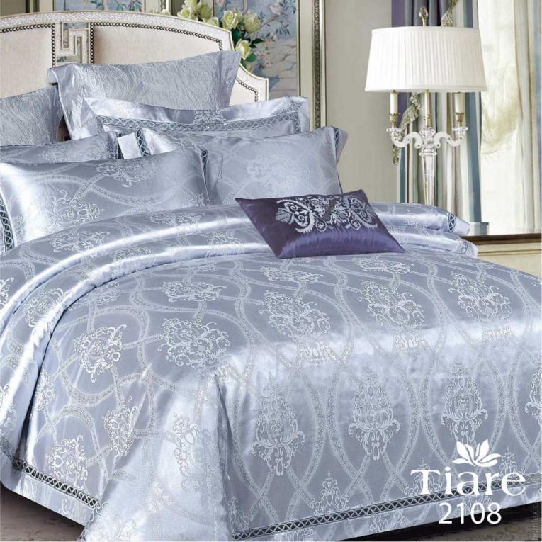 Семейный набор жаккардового постельного белья Вилюта 2108 Тиаре элитная постель