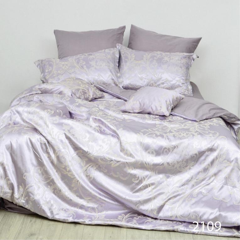 Семейное постельное белье сатин жаккард Вилюта Тиаре 2109 с вензелями
