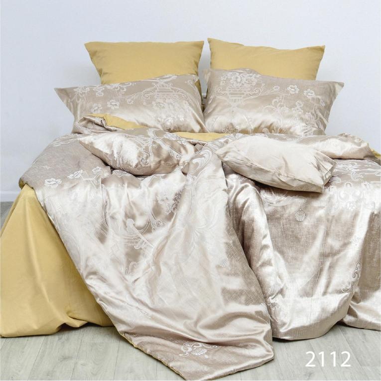 Жаккардовое постельное белье евро премиум класса 2112 Вилюта