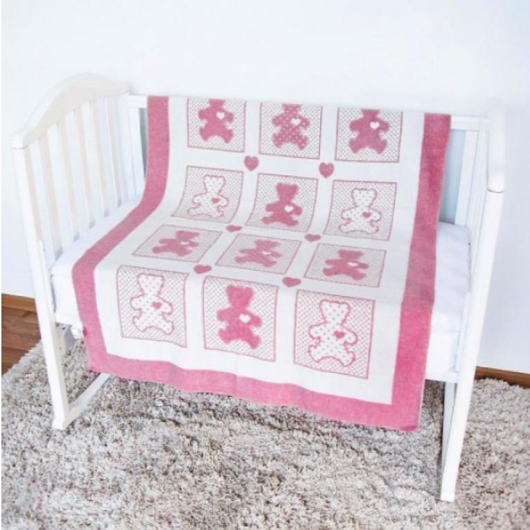 Летнее хлопковое детское одеяло Влади Барни розовое